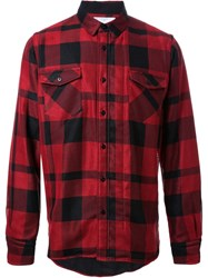 Sacai Checked Shirt Red