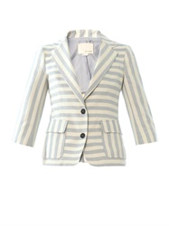Band Of Outsiders Wide Stripe Two Button Blazer