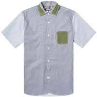 Junya Watanabe Man Short Sleeve Patch Pocket Shirt Blue