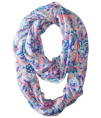 Lilly Pulitzer Riley Infinity Loop Rayon Multi La Playa Scarf Scarves Pink