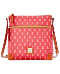 Dooney And Bourke Los Angeles Angels Of Anaheim Mlb Crossbody Purse Red