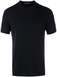 Neil Barrett Crewneck T Shirt Blue