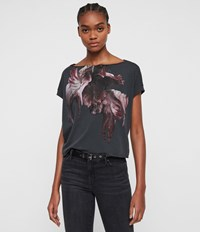 Allsaints Tulipa Pina T Shirt Washed Black