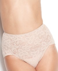 Bali Firm Control Lace N Smooth Brief 8L14 Nude