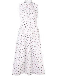 Ck Calvin Klein Star Printed Sleeveless Dress White
