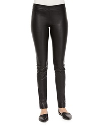 The Row Skinny Leather Moto Leggings