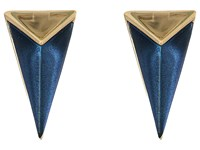 Alexis Bittar Faceted Pyramid Post Earrings Blue Velvet