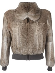 J.W.Anderson Elastic Waistband Cropped Jacket Nude And Neutrals