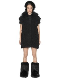 Fendi Mongolian Fur And Alpaca Knit Vest