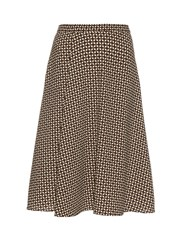 Max Mara Veruska Skirt Brown Print
