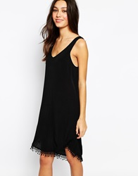 Esprit Crochet Hem Dress Black