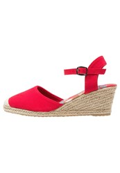 Anna Field Wedges Red