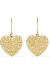 Carolina Bucci Heart 18 Karat Gold Earrings One Size