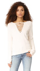 Pam And Gela Lace Up Sweatshirt Parchment