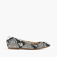 J.Crew Cece Italian Made Ballet Flats In Printed Canvas Ivory