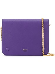 Mulberry Gold Tone Chain Shoulder Bag Pink And Purple