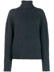 Isabel Marant Loose Fit Cashmere Jumper Blue