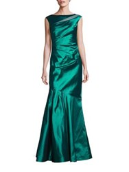 Rickie Freeman For Teri Jon Stretch Mermaid Emerald Gown
