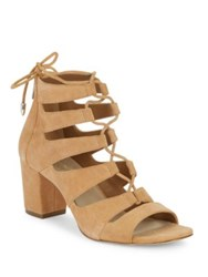 424 Fifth Ladonna Suede Sandals Light Toast