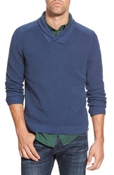 Eddie Bauer 'River Rock Ilaria Urbinati Collection' Trim Fit Shawl Collar Pullover Sweater Dusted Indigo