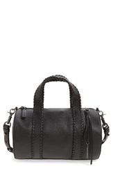 Mackage Whipstitch Leather Duffel Black