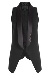 Alexander Wang Blazer Style Vest With Piercing Embellishment Black