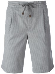 Brunello Cucinelli Pleated Detail Shorts Grey
