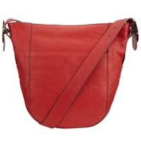 John Lewis Sophia Leather Hobo Bag Red