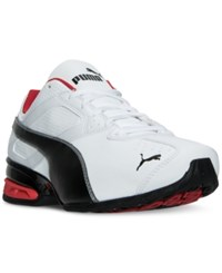 Puma Men's Tazon 6 Wide Running Sneakers From Finish Line White Black Silver Red