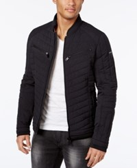 Guess Men's Stretch Printed Jacket Marbled Black