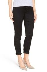 1822 Denim Women's 'Ankle Biter' Over The Bump Rolled Cuff Maternity Skinny Jeans Midnight