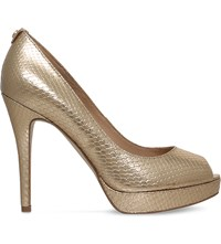 Michael Michael Kors York Patent Leather Platform Courts Gold