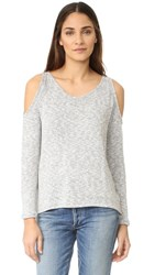 Bobi Cold Shoulder Sweater Grey