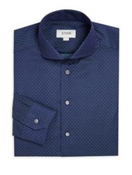 Eton Of Sweden Slim Fit Polka Dot Dress Shirt Blue