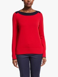 Boden Louisa Jumper Poinsettia