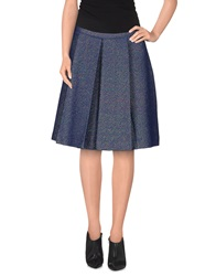 Just In Case Knee Length Skirts Blue