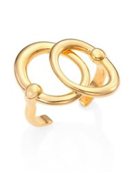 Maiyet Orbit Double Circle Cuff Bracelet Gold