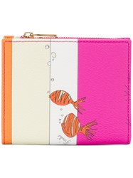 Emilio Pucci Stripe And Fish Print Small Wallet Nude And Neutrals