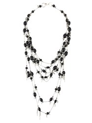 Marc Le Bihan Layered Beaded Necklace Black