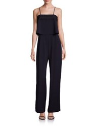 Parker Genevieve Embroidered Jumpsuit Midnight