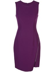Milly Side Zip Short Dress Purple