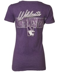 Royce Apparel Inc Women's Short Sleeve Northwestern Wildcats Bira T Shirt Purple
