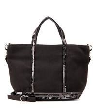Vanessa Bruno Cabas Baby Canvas Shopper Black