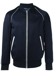 Daniele Alessandrini Grey Zipped Jacket Blue