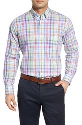Tailorbyrd Men's Big And Tall Catalina Regular Fit Plaid Sport Shirt