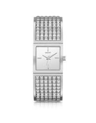 Dkny Bryant Park Stainless Steel Wide Bangle Watch Silver