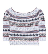 Alexander Mcqueen Striped Silk Blend Sweater Multicoloured