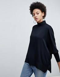 Selected High Neck Luxe Balloon Sleeve Blouse Black