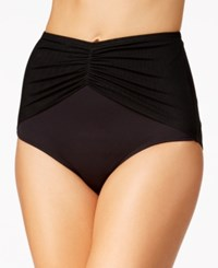 Coco Reef Diva Mesh High Waist Bikini Bottoms Women's Swimsuit Castaway Black