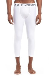 Under Armour Men's Heatgear Crop Leggings White
